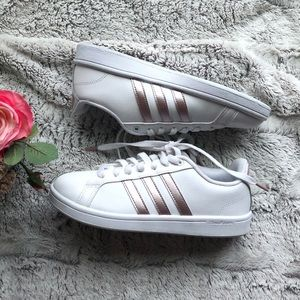 Womens Adidas Cloudfoam Advantage White Rose Gold